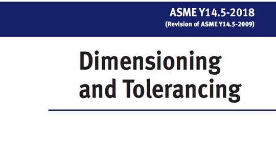 ASME Y14.5-2018 Dimensioning and Tolerancing GD&T标准释放